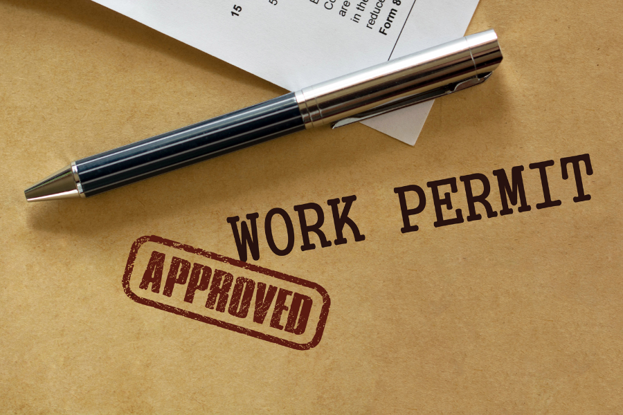 residence and work permit